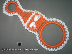 Porta Pano de Prato (Caldeiro do Artesanato) Tags: crochet trabalhosmanuais artesanatoparacozinha portapanodepratoefosforo