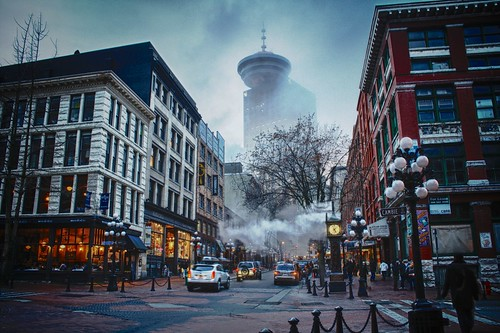 _MG_0868_HDR Vancouver Gastown Foggy Winter