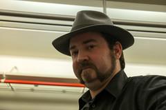 Madrid, There I Go!! (JF Sebastian) Tags: portrait hat train friend thatsme takenby morethan100visits fujifilmxe11855