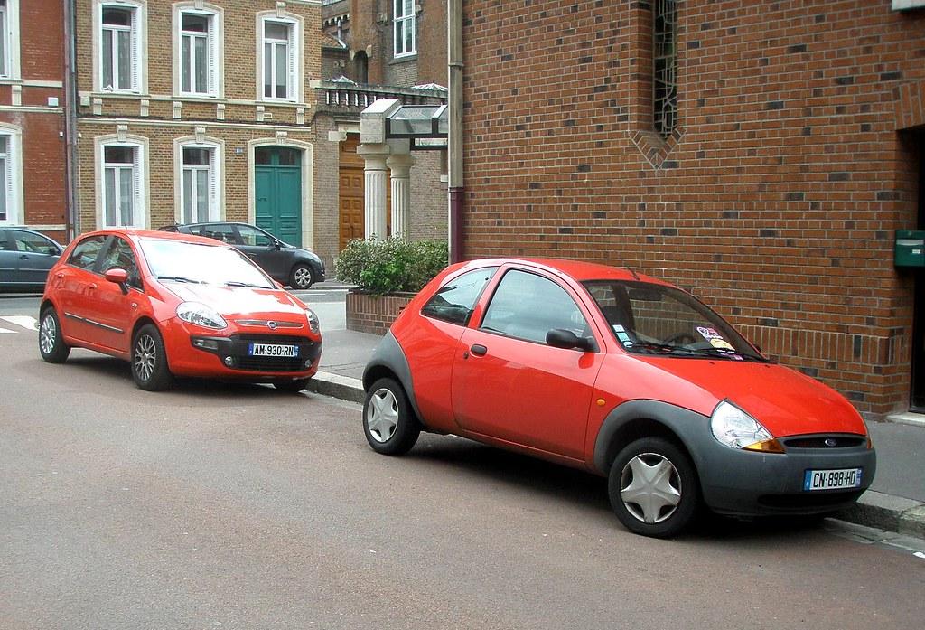Fiat Punto Et Ford Ka Rouges  Gueguette Definitivement Non Voyant