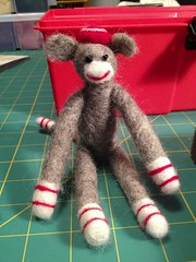 Felted Sock Monkey (wickedbear) Tags: madeit uploaded:by=flickrmobile flickriosapp:filter=nofilter