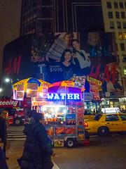 Water (UrbanphotoZ) Tags: nyc newyorkcity ny newyork water night hotdog sweater manhattan billboard midtown pedestrians vendor hudson westside hm pandora pretzel nikas heraldsquare chilidog italiansausage sabrett foodcart shishkabob zeyad chickengyro allbeef lambgyro diamondsdials