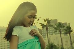Kayla Cassandra (Darren Martinez) Tags: birthday park sunset cute love kids spring afternoon sister cassandra six kayla littlesister doha qatar 2014 sixyearsold