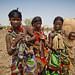 Eissa (Somali) women with babies. Border Ethiopia/Djibouti