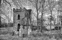 Ruin by the Side of the Road!! (Ossie13 aka Steve) Tags: ireland bw tower abandoned monochrome blackwhite ruin chapel eire 2014 d300 bythesideoftheroad comeath niksoftware true2bw nikond300 1685mm nikkor1685 stevemathers niksilverefexpro2 {vision}:{outdoor}=0978