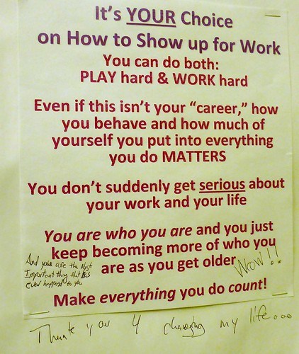 PLAY hard & WORK hard. Make everything count!
