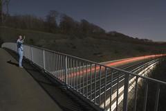 Sleepwaving (Alex Bamford) Tags: bridge cars night brighton long exposure moonlight pajamas pyjamas bypass sleepwalking a27 alexbamford wwwalexbamfordcom alexbamfordcom