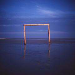 passage. (Susanne Klostermann) Tags: blue sky beach strand blau nordsee fujivelvia50 northsee velvia50 amrum kniepsand northfrisianislands