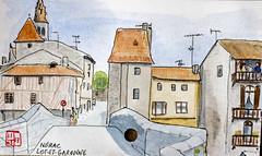 Le Tour de France virtuel - 47 - Lot-et-Garonne (chando*) Tags: croquis sketch aquarelle watercolor france