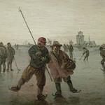 GOYEN (van) Jan,1646 - Patineurs sur le Merwede près de Dordrecht (Custodia) - Détail 13 thumbnail