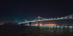 Point-n-shoot (Panda1339) Tags: sf 28mm leicaq baybridge summiluxq sanfrancisco nightphotography lights pier14 usa panorama touristmodeengaged california