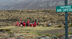 Roadside shrines (LeftCoastKenny) Tags: argentina patagonia shrines sign text hills day11