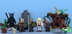 King Theoden and co. ⚔️ (Alex THELEGOFAN) Tags: lego legography minifigure minifigures minifig minifigs minifigurine movie minifigurines monster lord of the ring king theoden eomer eowyn rohan soldier guard witch black forest strain set helm return rock plant brown