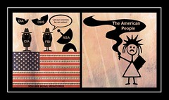 Enemies of the American State (mockba1_1999 (William Sutherland)) Tags: spies privacy dia dhs cia nsa fbi liberty barbedwire invasionofprivacy intelligence cartoon misconduct surveillance