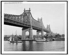 1910. Blackwell's Island Bridge in New York (Static Phil) Tags: 1910 blackwellsisland bridge newyork