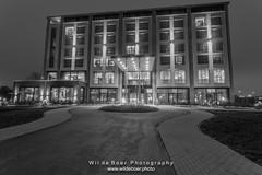 2H4A4082-BW (Wil de Boer Photography --> Dutch Landscape and Ci) Tags: nederland nl hoogkerk groningen vandervalk vandervalkhotel blackwhite sunset wwwwildeboerphoto wwwfacebookcomwildeboerphotography wwwinstagramcomdeboerit