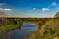 River Tweed and Border Chain Link Bridge (Brian Travelling) Tags: famous border chain link bridge scotland england rivertweed sky landscape
