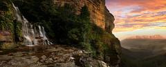 On Top Of The World (EmeraldImaging) Tags: katoomba bluemountains bluemountainswaterfall nsw sydney australia waterfall clouds sunrise sky mountain trees