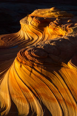 Golden Waves - 4874 (J & W Photography) Tags: 2016 americansouthwest arizona coyotebuttesnorth december jwphotography november secondwave vermillioncliffsnationmonume autumn bedding crossbedding goldenglow hike landscape latefall mountains nature rocks sandstones southwest stripes structure sunset texture thewave valleyandridge wilderness vermillioncliffsnationmonument