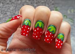 Nail Art: Morango (A Garota Esmaltada) Tags: agarotaesmaltada unhas esmaltes unhasdecoradas unhasartísticas manicure nails nailart naildesign nailpolish morango strawberry