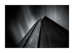 Brutal (Vemsteroo) Tags: coventry warwickshire architecture brutal brutalist angles geometry blackandwhite monochrome dramatic longexposure canon 5d mkiii 24mmtse bigstopper leefilters city urban universityofcoventry spring clouds fast movement outdoors