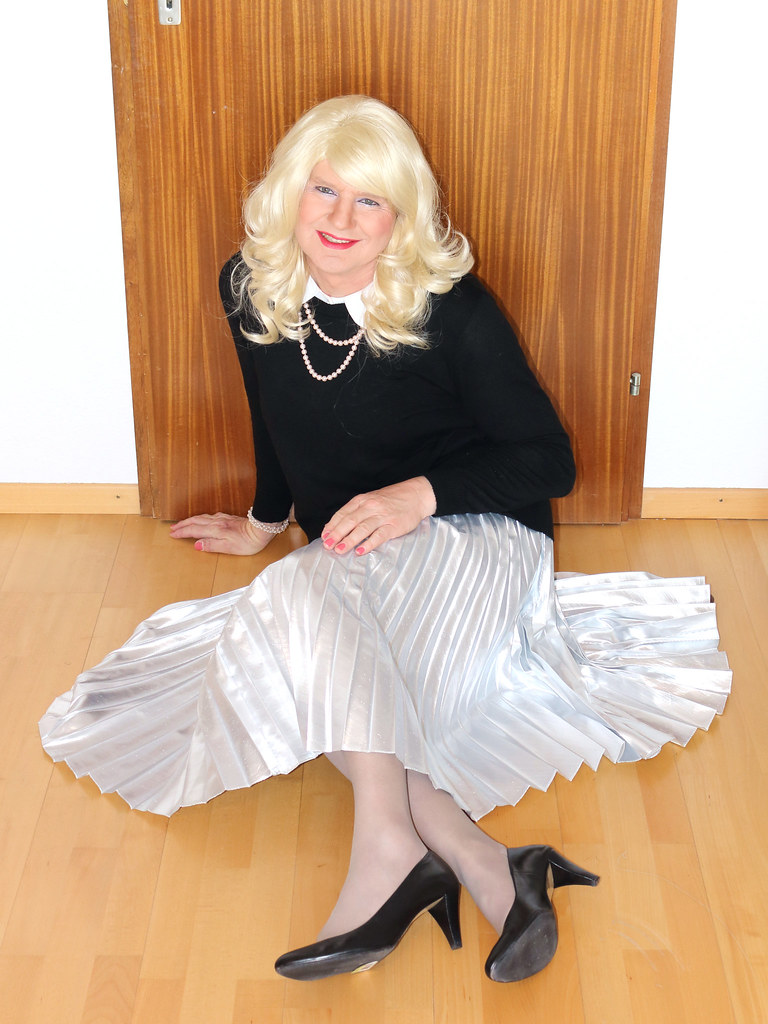 Transvestite in satin