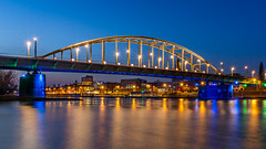 John Frost Brücke (jwfoto1973) Tags: johnfrostbrug johnfrostbrücke arnheim arnhem niederlande nederland netherland brücke bridge reflection spiegelung light longexposure langzeitbelichtung lights lichter licht johannesweyers d7100 nikon architektur architecture blauestunde bluehour