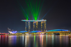 Marina Bay Sands Lightshow (BP Chua) Tags: mbs marinabaysands marinabay singapore marinabaysingapore lightshow laser lasershow night river hotel sands longexposure asia landscape