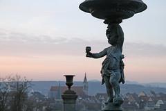 Have a drink on me (crowfoto) Tags: statue tübingen tuebingen dawn morning church kirche altstadt drink