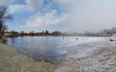 Goodbye winter (tomas.jezek) Tags: spring winter pond ice snow