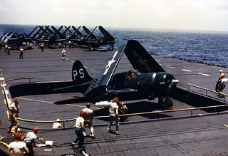 U.S. Navy Curtiss Helldivers on the USS Philippine Sea 1948
