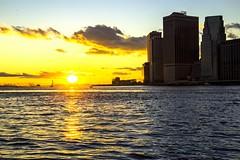 Manhattan sunset II (gatetegris) Tags: ny nyc newyork usa estadosunidos hudsonriver manhattan lowermanhattan sunset sky ocean oceanoatlantico ocaso atlantic atlantico atlanticocean atardecer frombrooklyn brooklynbridgepark dumbo dusk postadesol puestadesol sea mar travel viajar viaje vacaciones statueofliberty estatuadelalibertad skyline skyscrapers