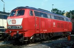 215 031  Ulm  01.08.92 (w. + h. brutzer) Tags: ulm eisenbahn eisenbahnen train trains deutschland germany diesellok dieselloks railway lokomotive locomotive zug 215 db webru analog nikon