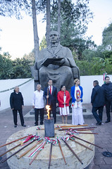 Ceremonia cívica con motivo del CCXI Aniversario del Natalicio del Licenciado Benito Juárez García en San Pablo Guelatao