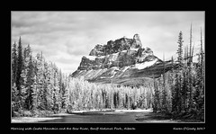 Morning with Castle Mountain and the Bow River, Banff National Park, Alberta (kgogrady) Tags: banffnationalpark bowriver castlemountain infrared landscape spring banff alberta canada