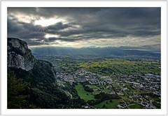a moment to remember (Norbert Kaiser) Tags: karren alpen alpenrheintal rheintal vorarlberg aussicht sonne wolken wolkenstrahlen dornbirn
