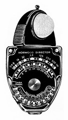 Norwood Director Light Meter Ad Illustration - 1948 (Casual Camera Collector) Tags: norwooddirector lightmeterfilm movie vintage advertrising lineart clipart