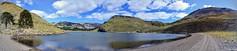 Laguna Hualcupén - Pano (pepelara56) Tags: lago laguna montañas montaña nubes cielo camino sendero panorámica