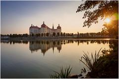 Moritzburg II (tosch_fotografie) Tags: schloss wasserschloss see ostsee sonnenuntergang spiegelung landschaft olympus omd em1 castle water lake sunset sun reflections landscape baltic sea
