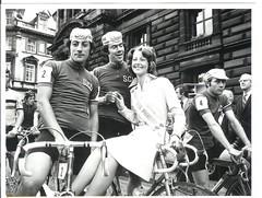 Milk Race Tour of Scotland, 1974. (Paris-Roubaix) Tags: scu scottish cyclists union george square vintage black white cycling photographs bicycle racing john macmillan mick daly pinta princess flying scot henry fiona mcewan wilbraham