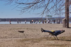 Easter Friday chill (beyondhue) Tags: britannia beach sand volleyball spring easter sunny relax people beyondhue ottawa river activities warm outside ontario canada quebec gatineau