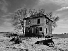 out in the country.... (BillsExplorations) Tags: debris abandoned abandonedillinois abandonedfarm abandonedhouse farm farmhouse farmmachinery decay ruraldecay ruraldeterioration forgotten discarded oncewashome old vintage rust illinois illinoisabandonment blackandwhite monochrome