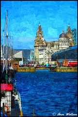 The Liver Building, Liverpool (mancunian61) Tags: liverpool albertdock liverbuilding water painterly merseyside uk boats