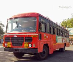 Akola 1 depot bus (yogeshyp) Tags: msrtc maharashtrastatetransport msrtcparivartanbus akola1depotbus