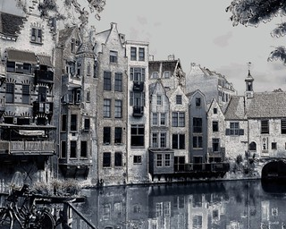 Delfshaven in Delfsblue