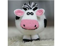 Crochet cow stuffed toy (eastfolk) Tags: cow crochet stuffed plush soft cute cuddly lovely button eyes kids children toy handmade smiling unique original eastfolk farm animal domestic