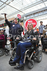 Disabled Protestors 1 (MichaelPreston_Creative19) Tags: access accessible activists angry banners britain chairs city community crowds demonstrate demonstrations demonstrators demos disability disabled england europe females gb gbr greatbritain image london londonbridge males man men messages mobs old pensioners people photo photograph pic picture political politics protesters protesting protests public rally social stations trains transport uk unitedkingdom unrest wheelchairs woman women youths