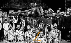 CHEEN-UP ! (JLuisOrtín (**Running Slow**)) Tags: cristodemena spanishlegion honor faith singing joséortín blackandwhite gettyimages horizontal guard military