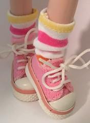 Pastel striped Short Socks For Blythe...