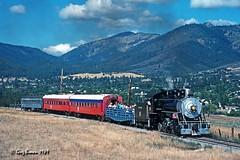 Steaming up Butcher Hill (C.P. Kirkie) Tags: yrekawestern yw yreka california northerncalifornia siskiyoucounty siskiyoumountains shastacascadewonderland shortlinerailroad shastavalley railroads trains excursiontrain passengertrain steamlocomotive steamtrain 282